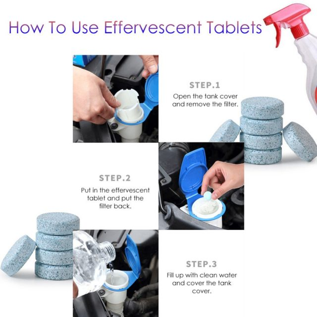 Effervescent Cleaning Tablets and Spray Set