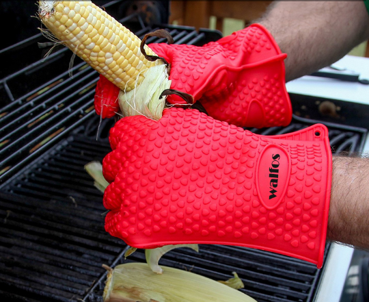 Heat Resistant Silicone Barbecue Gloves