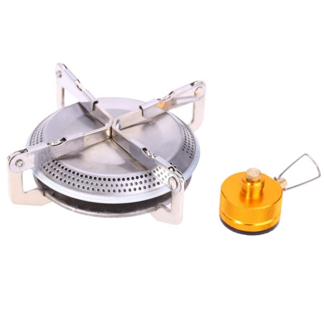 Portable Stainless Steel Mini Camping BBQ Gas Stove