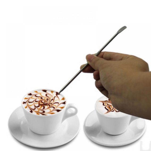 Convenient Easy-to-Use Eco-Friendly Stainless Steel Coffee Art Tool