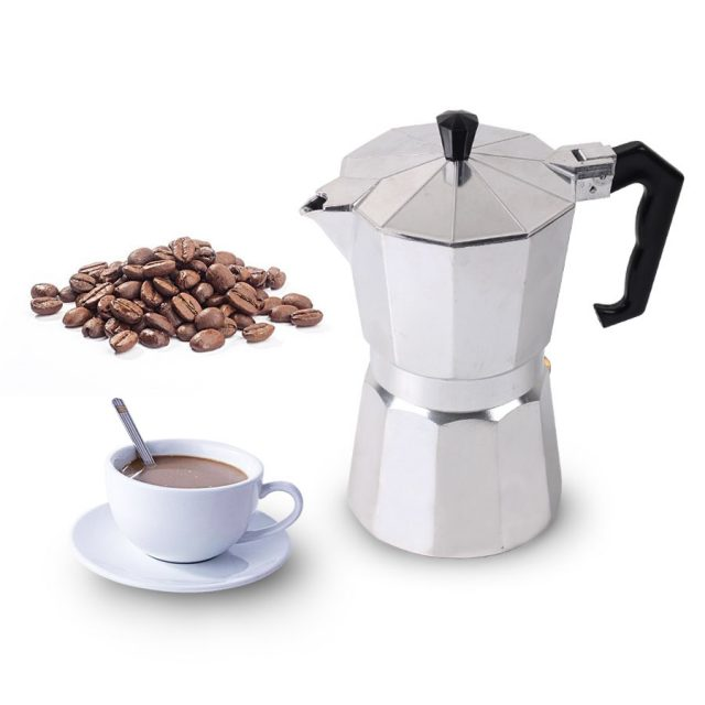 Aluminum Coffee Maker Pot with Mesh Filter