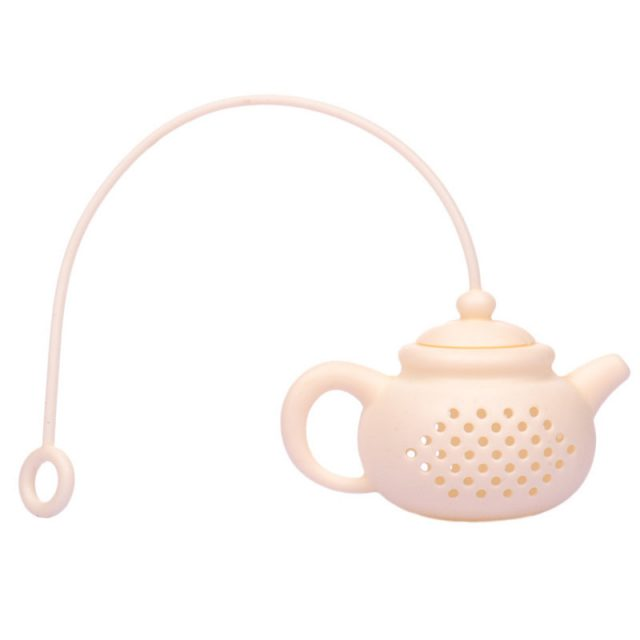 Pretty Teapot Shaped Reusable Silicone Tea Strainer