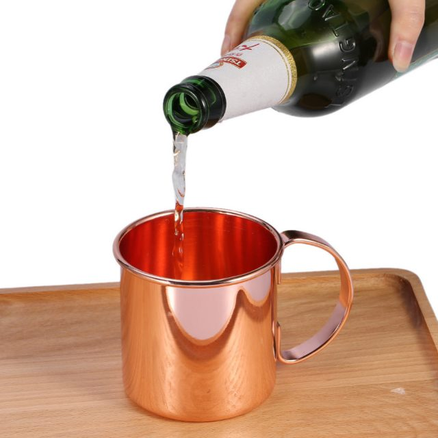 Universal Durable Shatterproof Copper Plated Stainless Steel Mug