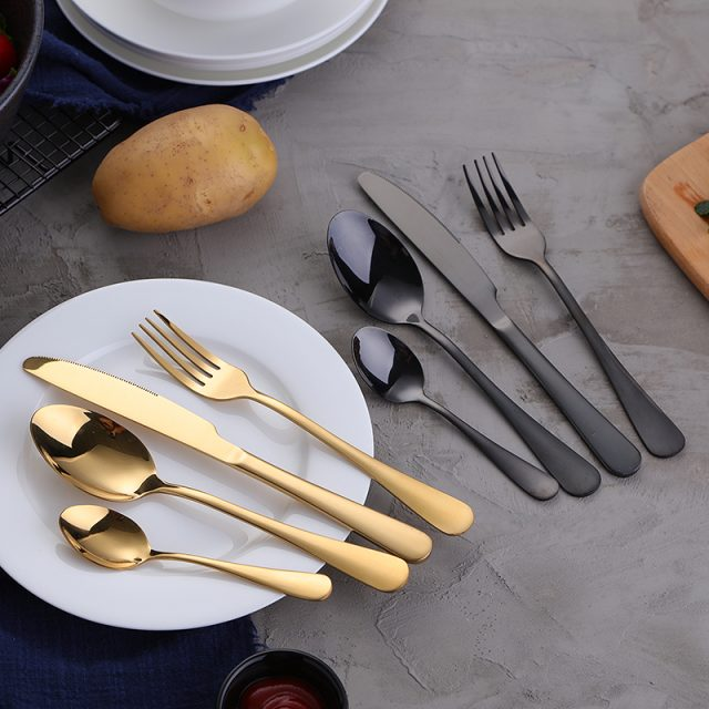 Stylish Durable Eco-Friendly Stainless Steel Flatware Set