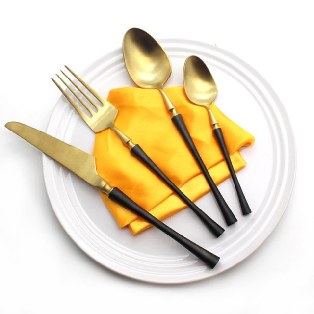 Retro Styled High Quality Eco-Friendly Stainless Steel Flatware Set