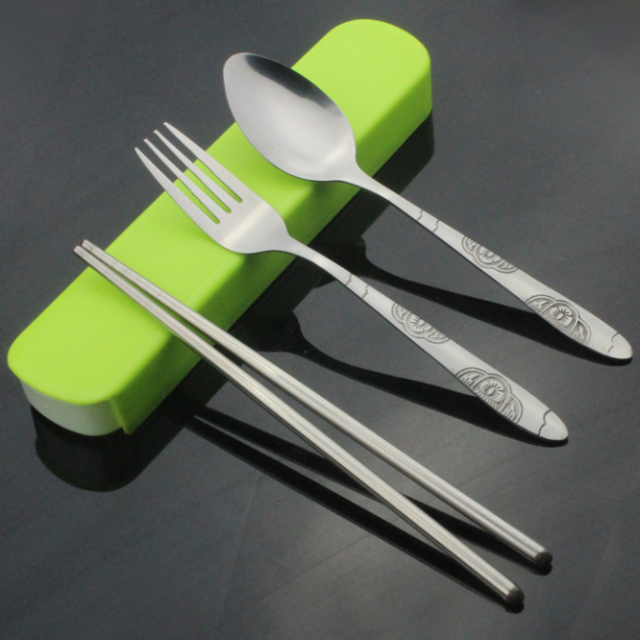 High Quality Portable Eco-Friendly Stainless Steel Flatware Set